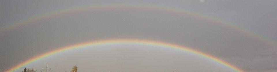 Ein Doppel-Regenbogen